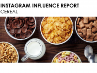 Instagram Influence Report: Cereal