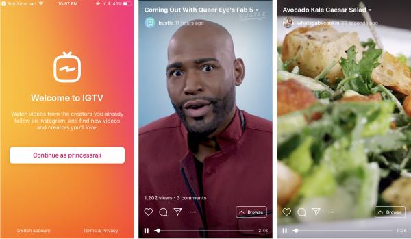 IGTV Instagram TV Instagram Stories Instagram In App Kevin Systrom