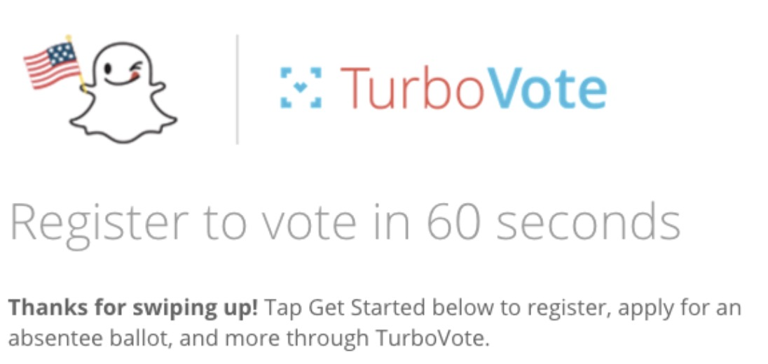 influencer marketing voter registration captiv8 snapchat instagram