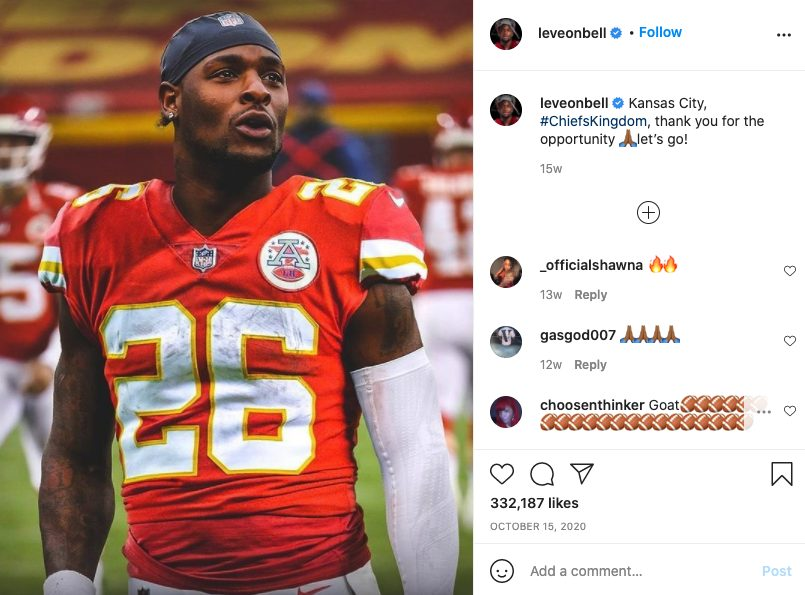 Le'Veon Bell IG Post