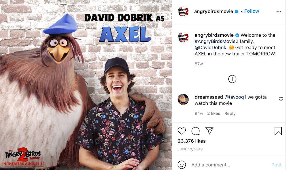 Influencer Marketing Analysis: David Dobrik Angry Birds Movie