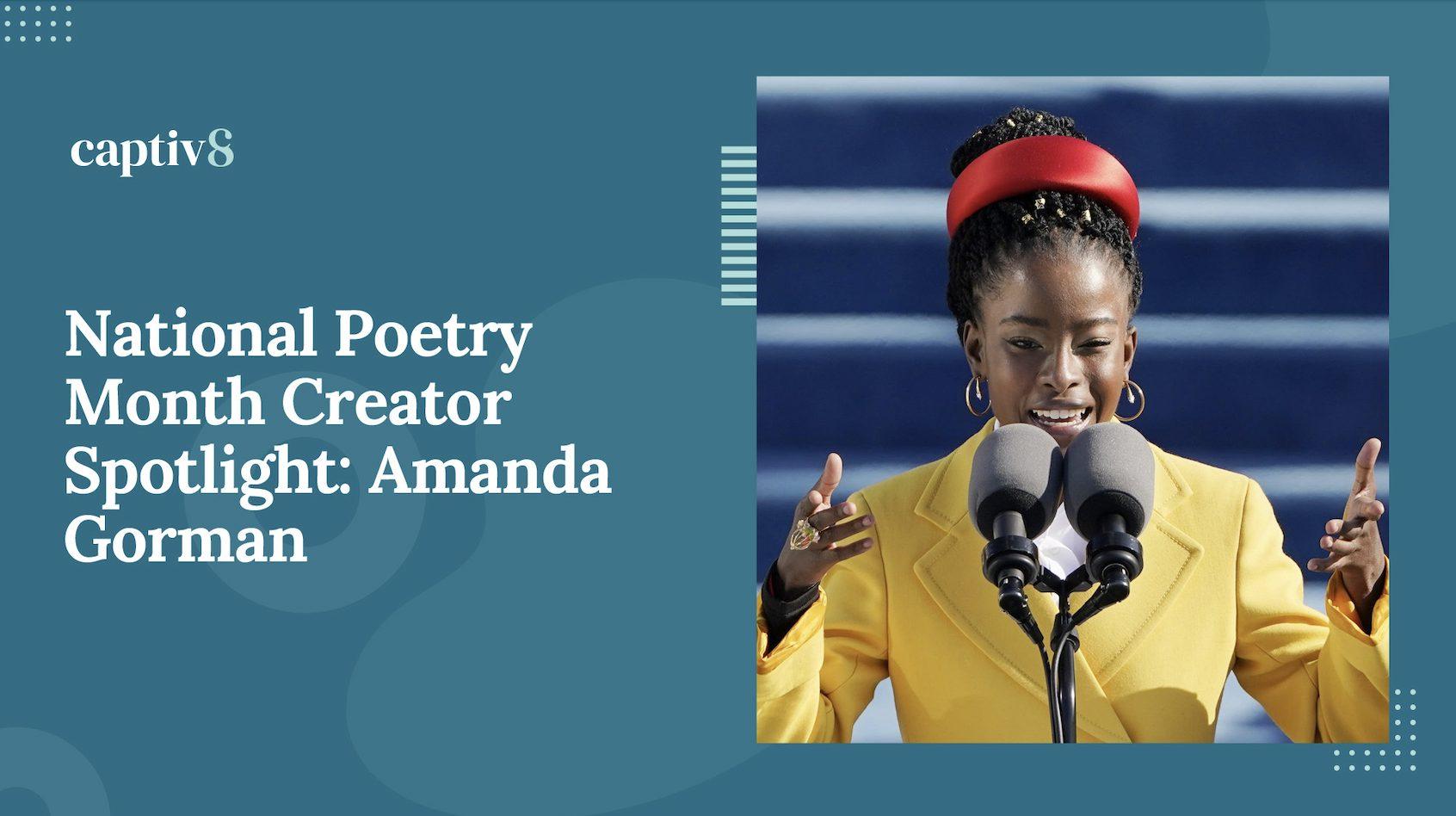 National Poetry Month Amanda Gorman
