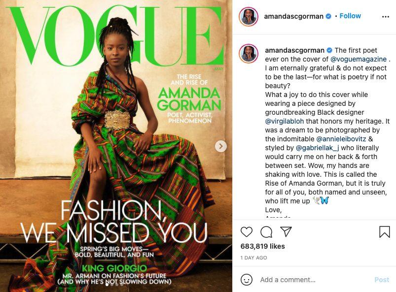 Amanda Gorman Vogue