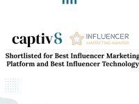 """Captiv8 Named as """"Best Influencer Marketing Platform"""" and """"Best Influencer Marketing Technology"""" Finalists by The Influencer Marketing Awards"""
