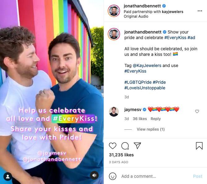 Jonathan Bennett LGBTQ Influencers